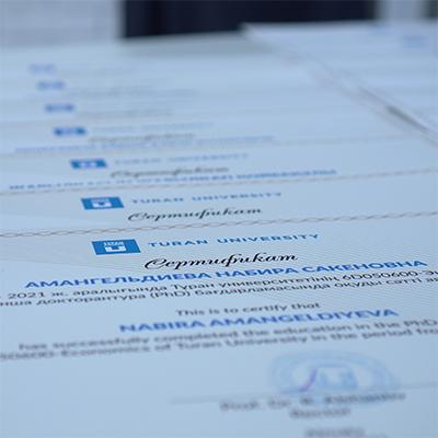 Торжественный вечер, посвященный выпуску докторантов и защитившихся докторов университета «Туран»